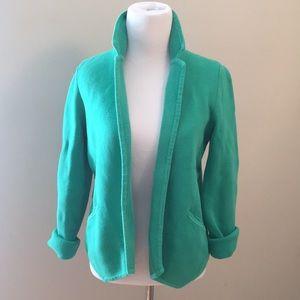 Loft Kelly Green Knit Blazer